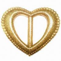 China Plastic Buckle/Slider in Heart Shape for Women Belt or Clothes, with 35mm Inside Bar wholesale