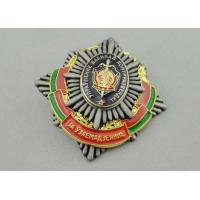 China Screw Souvenir Badges Army / Car / Awards With Antique Silver Plating wholesale