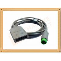 China Green 12 Pin ECG Trunk Cable 5 Leads Flexible With UL And Rohs Standard wholesale