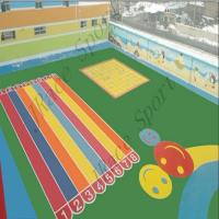 China Acrylic Epdm Seamless Flooring , Epdm Playground Surface Compression Resistance on sale