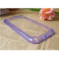 China Note 2 N7100 Samsung Galaxy Phone Cases Purple TPU And Acrylic , Clear 2 In 1 on sale