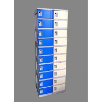 China 10 Tier Beige / Yellow Charging Station Lockers 2 Layer Cell Phone Charging Lockers wholesale