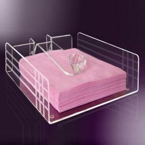China Fashion Shape Acrylic Napkin Holder customer's Logo wholesale