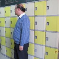 China Combination Lock 5 Tier Blue Employee Storage Lockers For The Factory wholesale