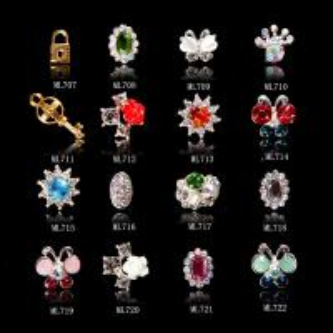 Nail Art Decoration Glitter Gold Silver Butterfly Cupid Arrow Alloy Jewelry ML707-722