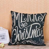 China Multi Color Woven Pillow Cushion Covers Merry Christmas Word Printed wholesale
