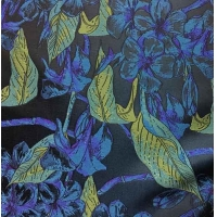 China Residential Fabric Silky Jacquard Yarn-dyed Leaves H/R 21.0cm 500T/100% P/180gsm wholesale