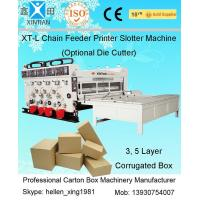Buy cheap Corrugated Carton Making Machine / Manufacturing Machinery With Chain Feeder from wholesalers