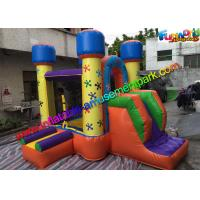 China Mini Inflatable Bouncer House , Kids Inflatable Bouncer With Small Slide wholesale
