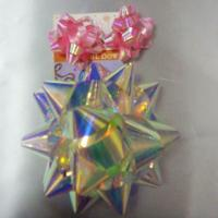 China Rainbow Pattern Ribbons And Bows 4 Inch Diameter Big Size Star Bow wholesale