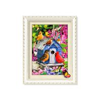 China 30x40cm 5D Pictures With Plastic White Frame For Office Decoration wholesale