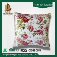 China Home Decorative Pink Flower Printed PP Cotton / Foam Sofa Cushions Replacement wholesale