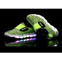 China Green Microfiber Upper Kids Sport Shoes LED Light Up Casual Kids LED Shoes wholesale