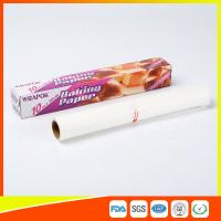 China Silicone Coated Parchment Baking Paper Sheets Greaseproof With Plastic Cutter wholesale