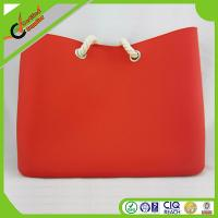 China Sweet Lady Silicone Shopping Bag / Beach Bags With Soft Rope Handle wholesale