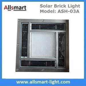 "China 8""x 8"" inch Square Solar Paver Lights Patio Garden Landscaping Solar Underground Lights Solar Brick Lights wholesale"