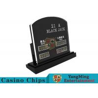 Blackjack Casino Table Games LED Electronic Bet Limit Sign With Customized Style