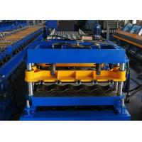 China Hydraulic Cutting Cold Roll Forming Machines , Sheet Roof Tile Making Machine wholesale