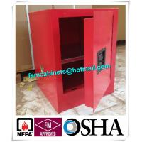 China Flame Proof 4 Gallon Paint Storage Cabinets For Corrosive Combustible Liquid wholesale