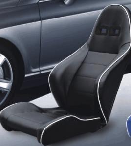 China Unadjustable Durable PVC Sport Racing Seats Pair + Slider 1 Year Warranty wholesale