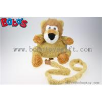 "China 11.8""Lovely Yellow Plush Lion Children Backpack Children Not Lost Bags Bos-1238/30cm wholesale"
