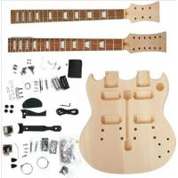 China Polished Body DIY Electric Guitar Kits Double Head / Neck Electric Guitar AG-DN1 wholesale