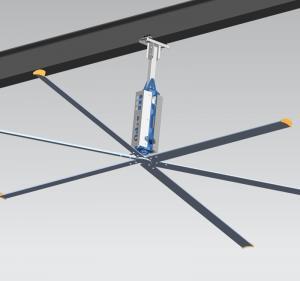 AWF66 22ft 6 Blade Ceiling Fan , Large Industrial HVLS Ceiling Mount Ceiling Fan