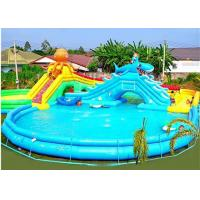 China Commercial Octopus Inflatable Water Parks For Kids / Blow Up Pool With Slide wholesale