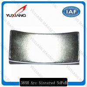 China High Coercive Force Coated Neodymium Magnets N52 35SH 38SH Arc Shaped wholesale