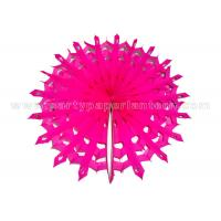 China Snowflake Round Paper Honeycomb Balls , Party Decoration honeycomb pom poms wholesale