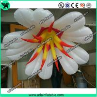 China Autumn Event Party Hanging Decoration Inflatable White Flower With LED Light wholesale