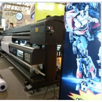 China 1.8M / 3.2M Eco Solvent Double Side Printer with Epson DX7 head to print Banner wholesale