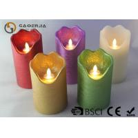 China Double Light Moving Flame Led Candles For Home Decoration 15.5 / 17.8cm wholesale