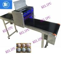 China 6 Nozzles Egg Inkjet Coding Printer With Standard Font Large Information Storage wholesale