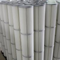 China White Industrial Air Filter Cartridges / Dust Collector Cartridge Filter on sale