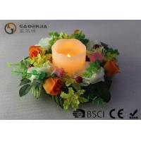 China Flameless Advent Pillar Candles , Led Remote Control Candles Dripping Finish wholesale