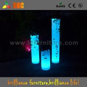 China 100-240V Led Light Plant Flower Pots For Nightclub / Disco , 30 × 30 × 70 Cm Size wholesale