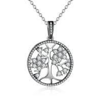China Handmade Tree Of Life Sterling Silver Pendants With 7.5 Inch Chain For Necklace on sale