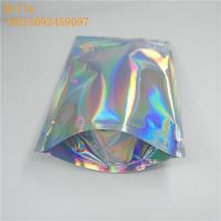 China Stand up zip lock bag the holographic plastic bag for the bath salt and the popular aluminum foil mask bag wholesale