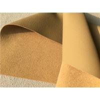 China Beige Leather Auto Upholstery Material , Flocking Car Seat Upholstery Fabric wholesale