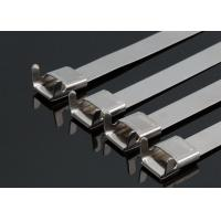 China Insulation Stainless Steel Tyraps With Wing Seals , Metal Pipe Ties Heavy Duty wholesale