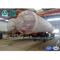 China 45M3 3 Axles Heavy Duty Lpg Propane Gas Tank Trailer With Air Suspension wholesale