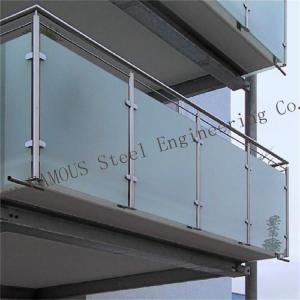 China Safety Residential Handrail Glass Balustrade , ISO 3834 frameless glass balcony railing wholesale