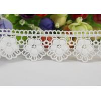 China Water Soluble Chemical Polyester lace ribbon trim For Gilr Dress Vintage Off White wholesale