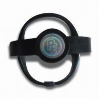 China Silicone Energy Wristbands with Visible Holograms, Customed Logo Accepted, Other Colors Available wholesale