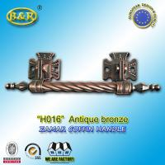 China Long Metal Coffin Barref H016 Coffin Handles Antique Bronze 30*7.5 Cm herrajes para ataudes wholesale