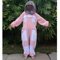 China Hooded Breathable and Pink Beekeeping Protective Clothing With YKK Zipper wholesale