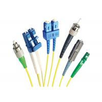 China LC/UPC Cabo Yellow LSZH SM MM Single Core Fiber Optic Cable Patch Cord wholesale