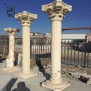 China Marble Roman Column Garden Pillar Building Decorative Natural Stone Handcarved wholesale