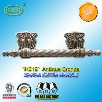 China metal coffin bar H019  amak Metal Coffin Handles With Steel Bar 30 x 9.5 cm antique bronze color wholesale